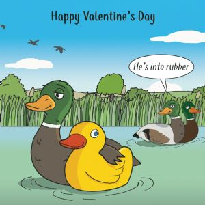 CS5  Funny Card For Valentines Day Rubber Duck